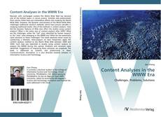 Couverture de Content Analyses in the WWW Era