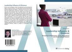 Copertina di Leadership Influence & Distance