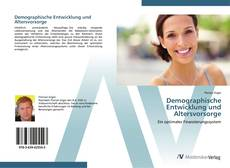 Buchcover von Demographische Entwicklung und Altersvorsorge