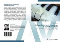 Capa do livro de Erfolgskriterien innovativer Geschäftsmodelle