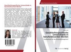 Buchcover von Geschlechtsspezifische Unterschiede in berufsrelevanten Werten