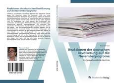 Обложка Reaktionen der deutschen Bevölkerung auf die Novemberpogrome