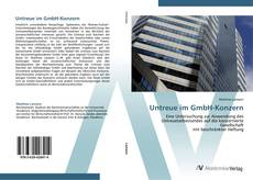 Capa do livro de Untreue im GmbH-Konzern