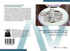 Capa do livro de Strategisches Controlling bei öffentlicher Beschaffung
