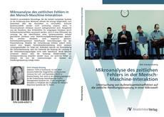 Buchcover von Mikroanalyse des zeitlichen Fehlers in der Mensch-Maschine-Interaktion