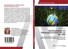Capa do livro de Nachhaltigkeit im Philosophie-Unterricht an der AHS