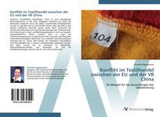 Capa do livro de Konflikt im Textilhandel zwischen der EU und der VR China