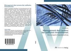 Bookcover of Management des Lernens bei radikalen Innovationen