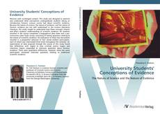 Couverture de University Students' Conceptions of Evidence