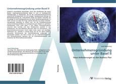 Bookcover of Unternehmensgründung unter Basel II