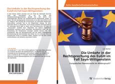 Buchcover von Die Umkehr in der Rechtsprechung des EuGH im Fall Sayn-Wittgenstein