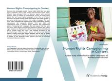 Copertina di Human Rights Campaigning in Context