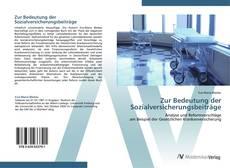Zur Bedeutung der Sozialversicherungsbeiträge kitap kapağı