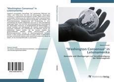 """Washington Consensus"" in Lateinamerika kitap kapağı"