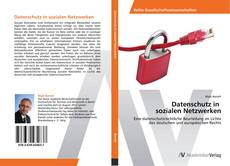 Capa do livro de Datenschutz in   sozialen Netzwerken