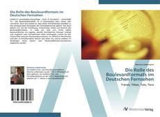 Die Rolle des Boulevardformats im Deutschen Fernsehen kitap kapağı