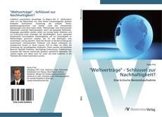 """Buchcover von """"Weltverträge"""" - Schlüssel zur Nachhaltigkeit?"""