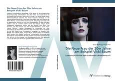 Capa do livro de Die Neue Frau der 20er Jahre am Beispiel Vicki Baum