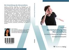 Обложка Die Entwicklung des Hörverstehens