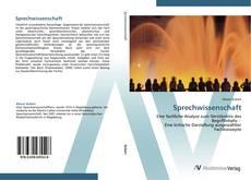 Buchcover von Sprechwissenschaft