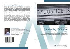 Bookcover of The Meaning of Criminal Law