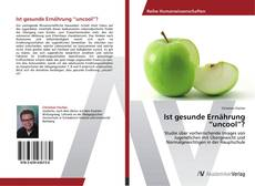 "Bookcover of Ist gesunde Ernährung ""uncool""?"