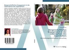 Обложка Bürgerschaftliches Engagement in der Lebensphase des Jugendalters