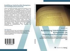 Buchcover von Ausbildung interkultureller Kompetenz im Fremdsprachenunterricht
