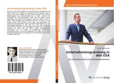Bookcover of Unternehmensgründung in den USA