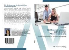 Buchcover von Die Besteuerung der betrieblichen Altersversorgung