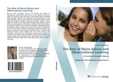 Portada del libro de The Role of Naive Advice and Observational Learning