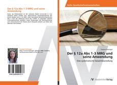 Capa do livro de Der § 12a Abs 1-3 MRG und seine Anwendung