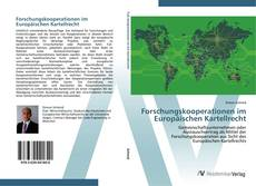 Portada del libro de Forschungskooperationen im Europäischen Kartellrecht