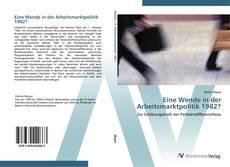 Capa do livro de Eine Wende in der Arbeitsmarktpolitik 1982?