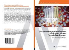 Couverture de Finanzierungsmodelle eines bedingungslosen Grundeinkommens