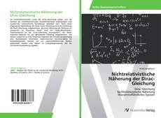 Buchcover von Nichtrelativistische Näherung der Dirac-Gleichung