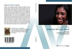 Nigerian Women Speak kitap kapağı