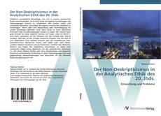 Buchcover von Der Non-Deskriptivismus in der Analytischen Ethik des 20. Jhds.