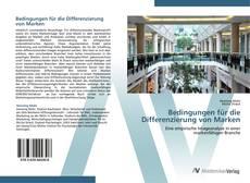 Buchcover von Bedingungen für die Differenzierung von Marken