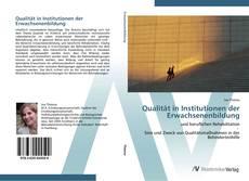Copertina di Qualität in Institutionen der Erwachsenenbildung