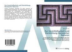 Buchcover von Zur Unmittelbarkeit und Vermittlung Humescher Naturen