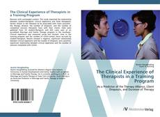 Capa do livro de The Clinical Experience of Therapists in a Training Program