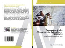 Buchcover von Expressionistische Metaphorik im Spiegel ihrer Forschung