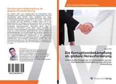 Bookcover of Die Korruptionsbekämpfung als globale Herausforderung