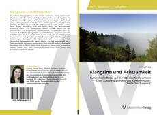 Capa do livro de Klangsinn und Achtsamkeit