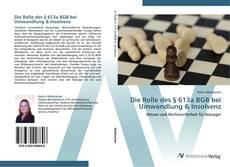 Buchcover von Die Rolle des § 613a BGB bei Umwandlung & Insolvenz