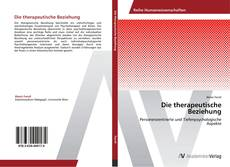 Capa do livro de Die therapeutische Beziehung