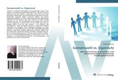 Gemeinwohl vs. Eigennutz kitap kapağı