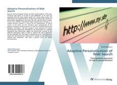 Обложка Adaptive Personalization of Web Search