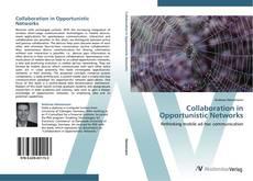 Collaboration in Opportunistic Networks kitap kapağı